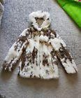 womens topshop fur coat size 10