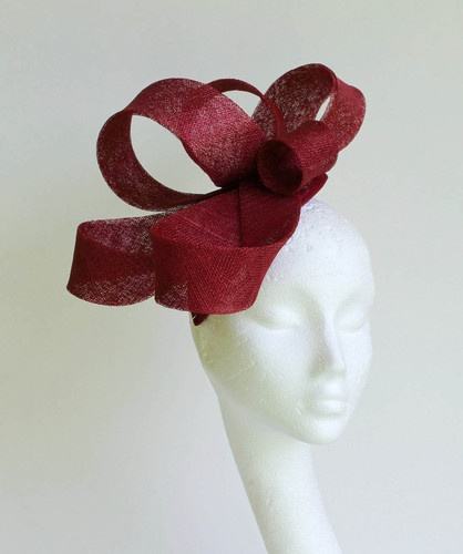 Burgundy Fascinator Hat for weddings/ascotFascinators Hats, Burgundy Fascinators, Fascinator Fascinators, Fascinators Fascinators