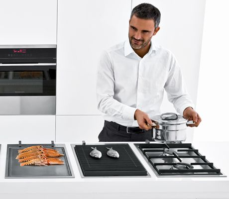 the collection of modular hobs includes gas barbecue teppanyaki and induction units the 36cm. Black Bedroom Furniture Sets. Home Design Ideas