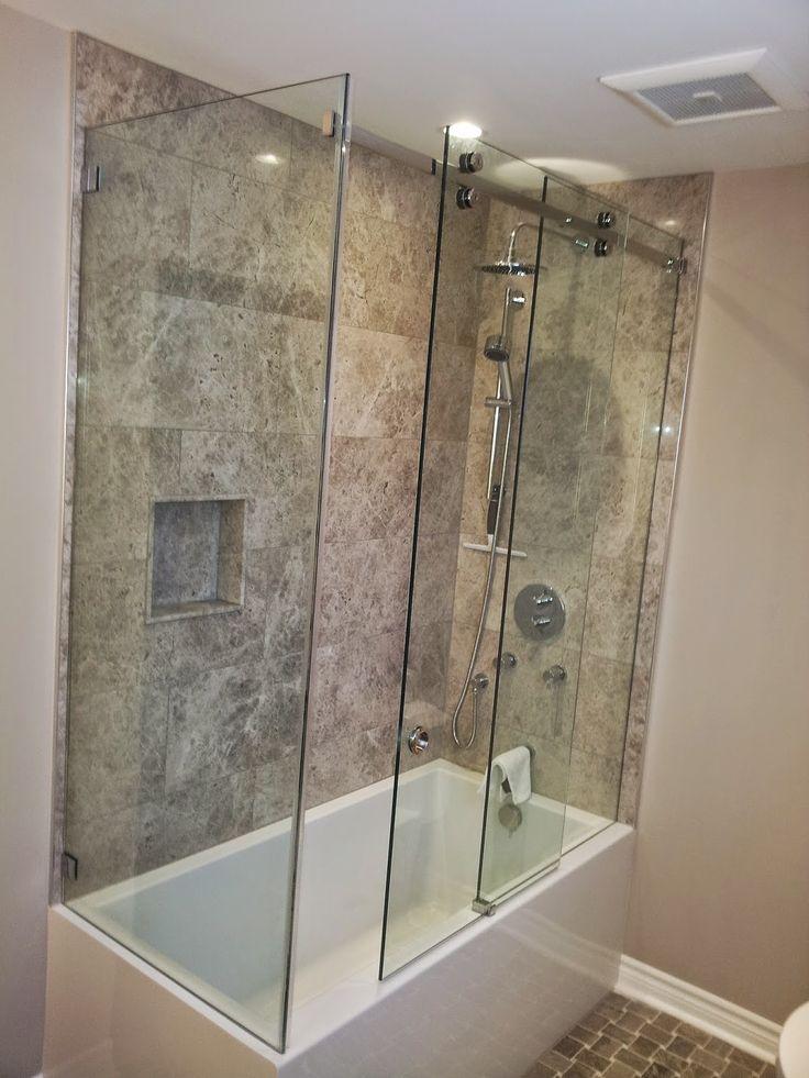 Five Rivers Glass  Glass tub enclosure, Glass shower tub, Shower enclosure