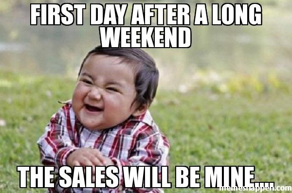 Day After Long Weekend Meme