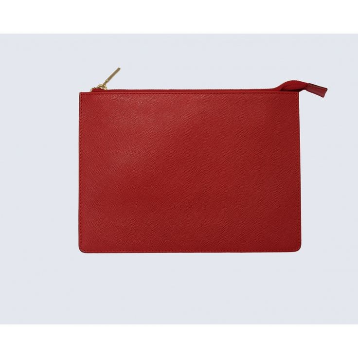 Small red leather pouch - Accessories
