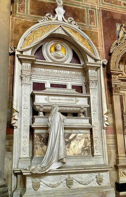 #Italy  #Florence #cathedrals Tomb of Gioachino Rossini (Composer), Basilica di Santa Croce, Florence, Italy by Ron Gunzburger, via Flickr