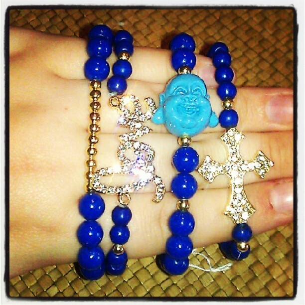 Def one of my favs!! #blue #babyblue #gold #Buddha #laughing #love #cursive #cross #bracelet #bracelets #beaded #bead #beads #ampm #ampmaccessories #forsale #labordaysale #jewelry #armcandy #armparty #armswag for questions or orders shoot me a message Facebook.com/​ampmaccessories or ampmaccessories@gmail.com or 305-899-9832 :)