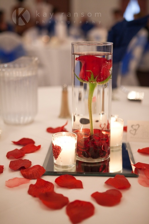 Wedding table centre pieces - Centre de table vase cylindrique ...