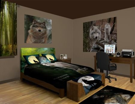 Wolf Tracks Bedroom Theme Featured At