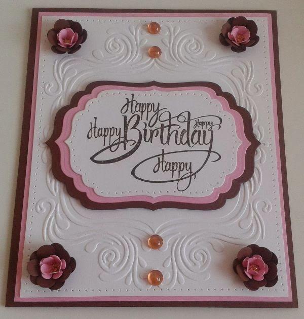 Stempeltechnik, Spellbinders, Rubbernecker, Happy Birthday