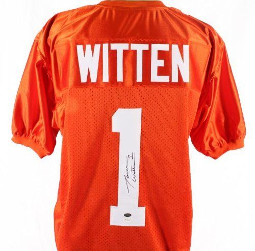 Jason Witten Autographed Jersey - Tennessee Volunteers Witness - JSA Certified - Autographed College Jerseys by Sports Memorabilia. $199.99. Jason Witten Autographed Jersey - Tennessee Volunteers JSA Witness. The stats say it all; theres a reason why he's one of the best. Authenticity can be a problem in the sports memorabilia collecting industry, which is why we take pride in offering only 100% certified items. We challenge you to find another piece of this quality at a bette...