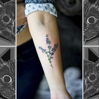 This delicate sprig of heather. | 24 Beautiful Scottish Tattoos You Definitely Won't Regret