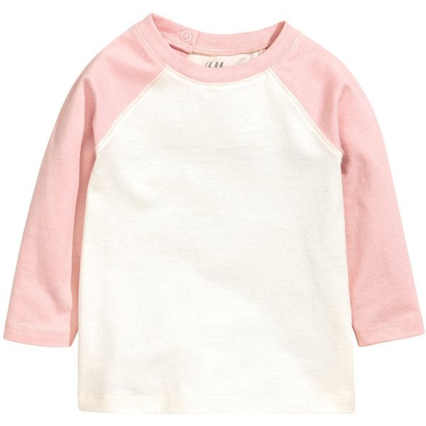 Long-sleeved T-shirt $5.99 (€5,67) ❤ liked on Polyvore featuring tops, t-shirts, long t shirts, white jersey, white tee, long white t shirt and long sleeve white t shirt