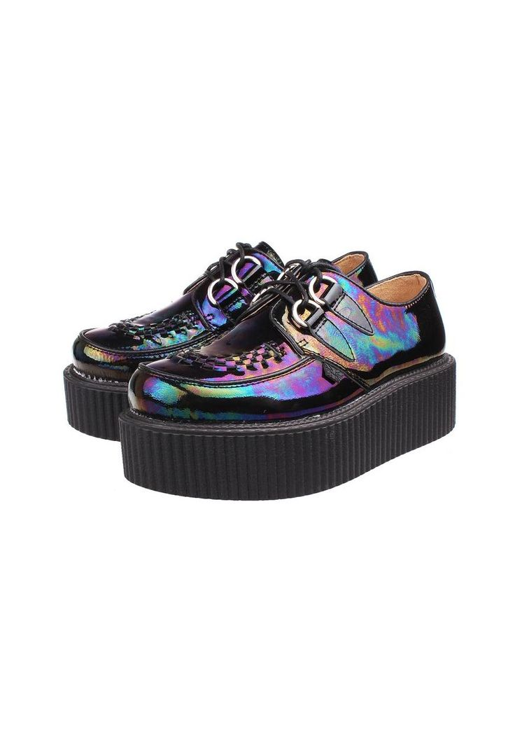 Summer Collection: Dark Hologram Leather Creepers | AlisonSman | ASOS Marketplace