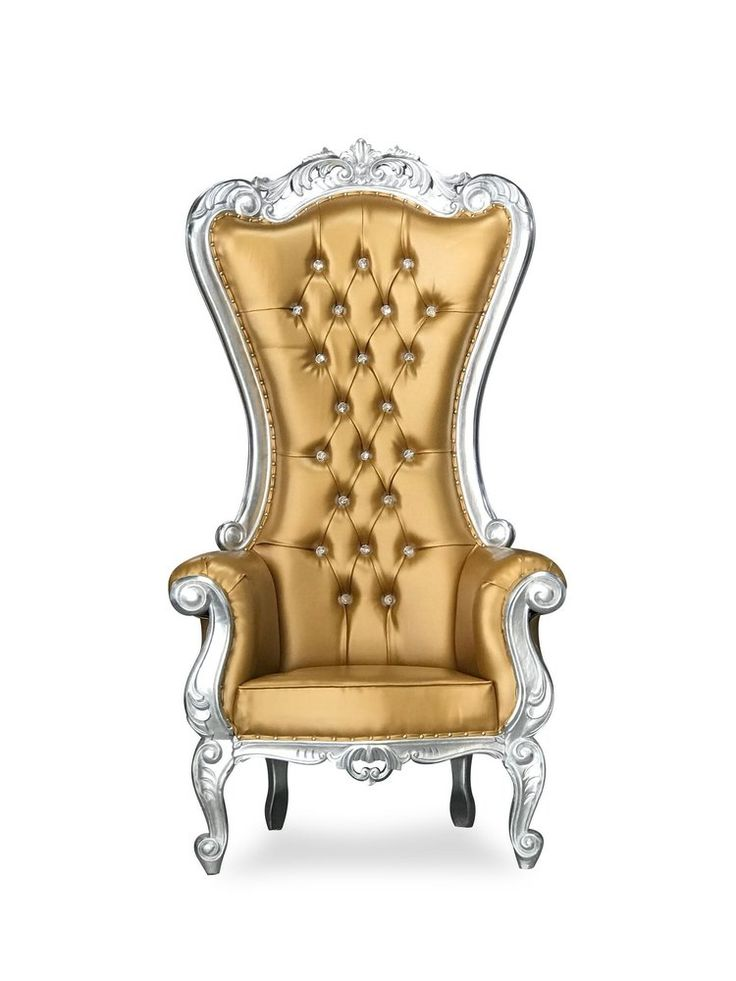 """70"""" Isabella Throne • Silver/White • Chiseled Perfections"""