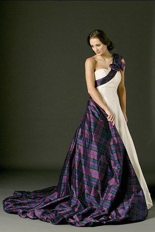 Wear a tartan dress, or buy a detachable train. | 26 Impossibly Beautiful Scottish Wedding Ideas