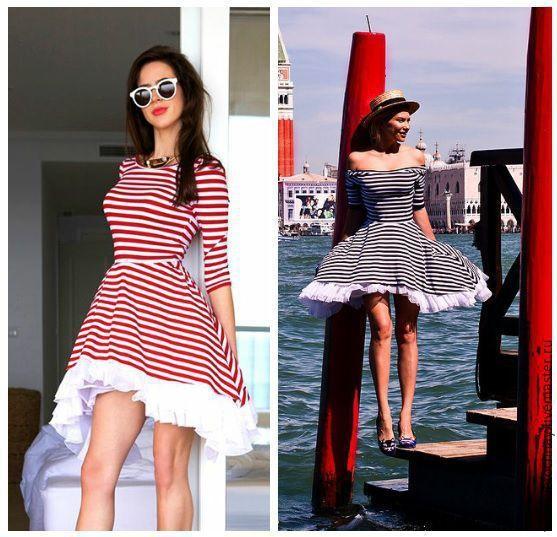 """Купить Платье """"Морячка"""" - в полоску, платье, круизное платье, летнее платье, платье в полоску"""