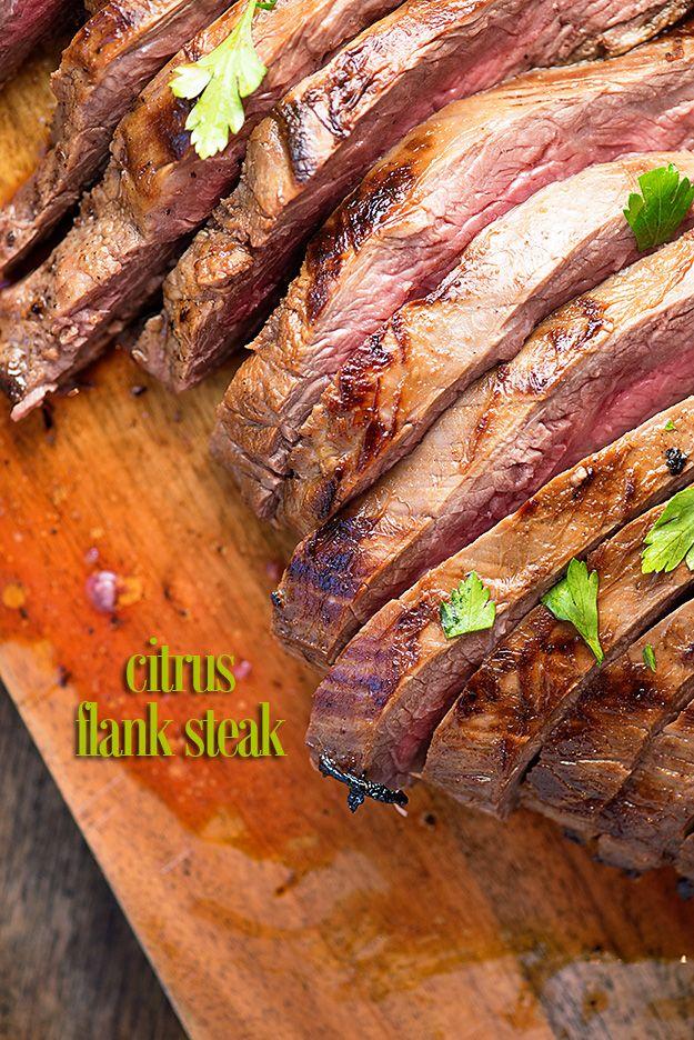 Citrus Marinated Flank Steak