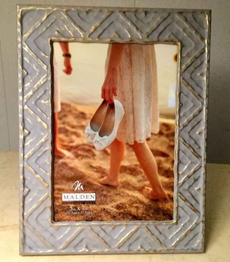 Malden International Designs 5x7 Chevron Picture Frame #Malden