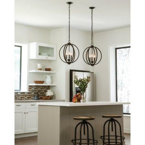 Sphère suspendu bronze avec accent de cristal cuivré à l'intérieur, idéal pour salle à manger, chambre, entrée et escalier.