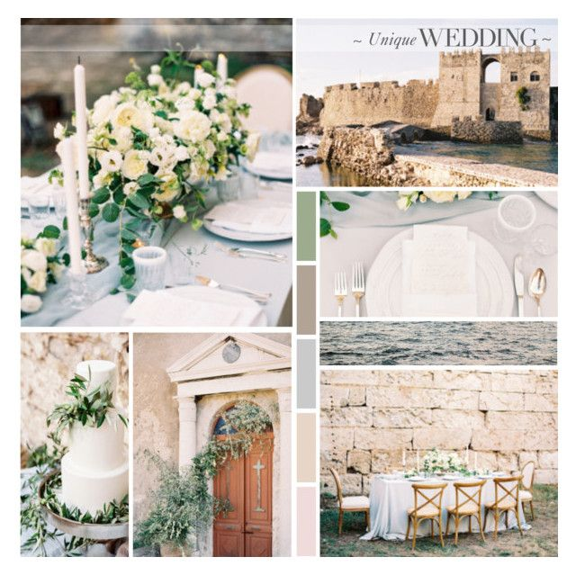 Elegant Castle Wedding in Messinia, Greece by anna-nemesis on Polyvore featuring art