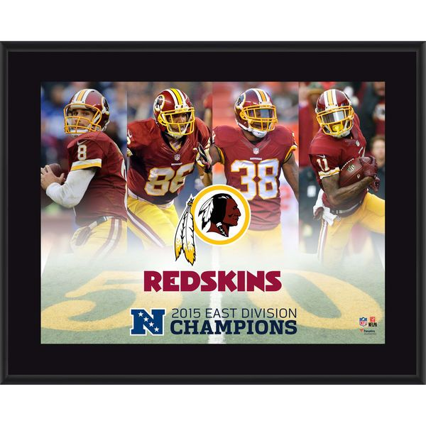 "Washington Redskins 2015 NFC East Division Champions 10.5"" x 13"" Sublimated Plaque - $29.99"