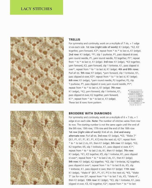 400 Modele de tricotat Stitch. Cusaturi Excelent Discuție despre LiveInternet…