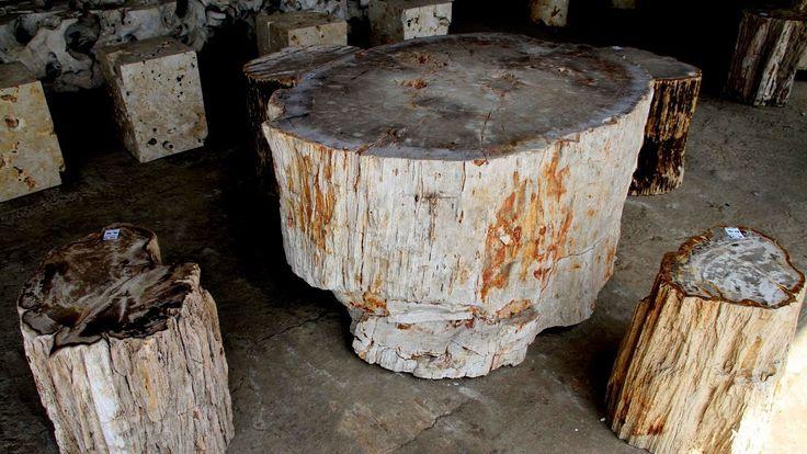 IndoGemstone Wood Stump Table