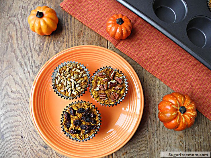 Personalized Pumpkin Baked Oatmeal Cups: Gluten Free & Diabetic Friendly-I made this in a pyrex dish instead and cut in squares, always options :)