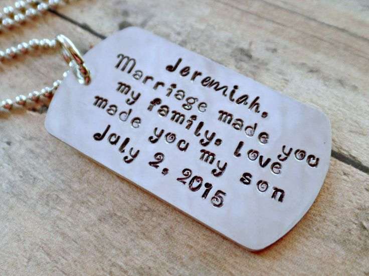 Love Made You My Son* Blended Family Gift* Blended Family Wedding* Step Son Wedding Gift* Step Son Necklace* Personalized* Step Kids* - pinned by pin4etsy.com