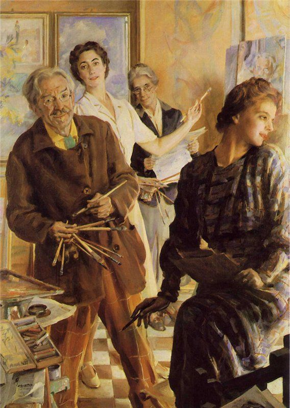 We Four in the Mirror, 1945, Giacomo Balla. Italian Futurist Painter (1871 - 1958)