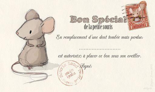 bon spécial pour la petite souris à placer sous l'oreiller (imprimable)