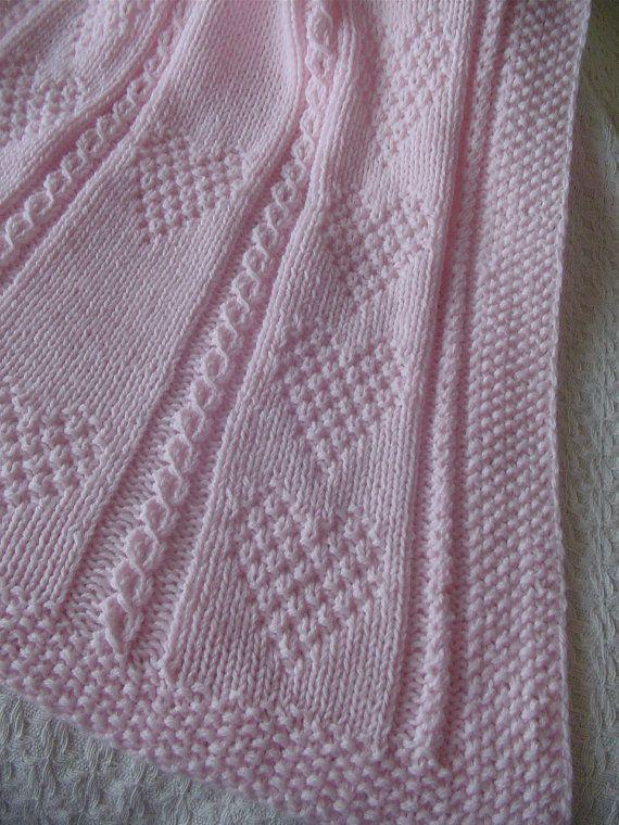 Coperta del bambino 2 rosa rosa Baby Blanket a mano a