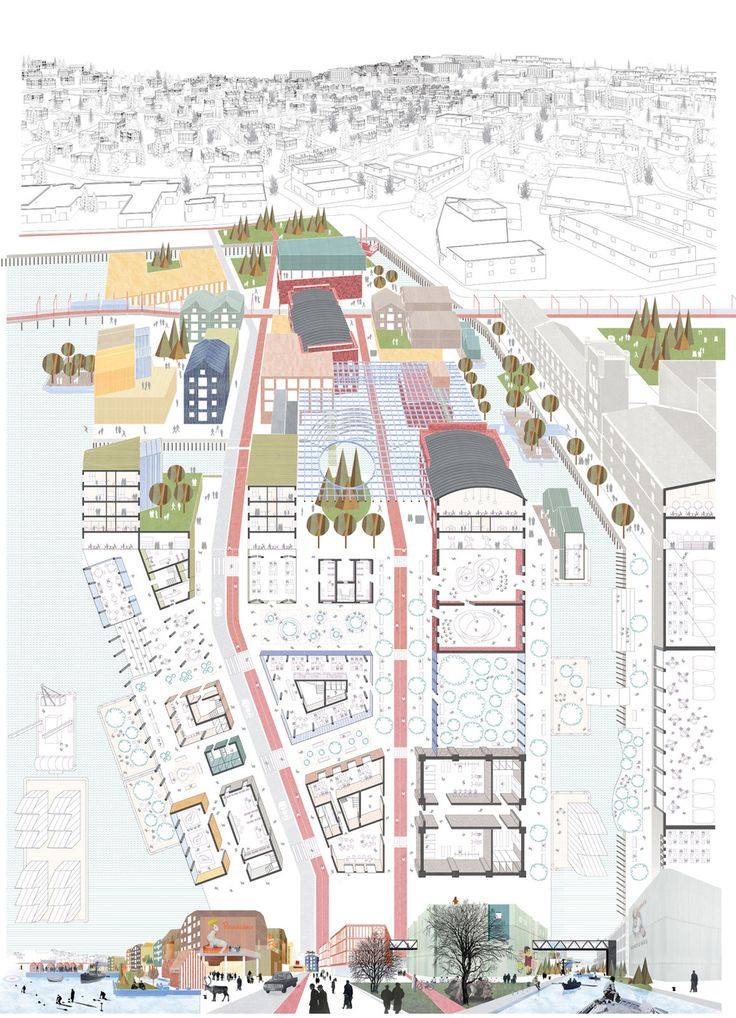 """In response to the Europan 13's """"adaptable city"""" theme, the Norway competition for the city of Trondheim sought the ..."""