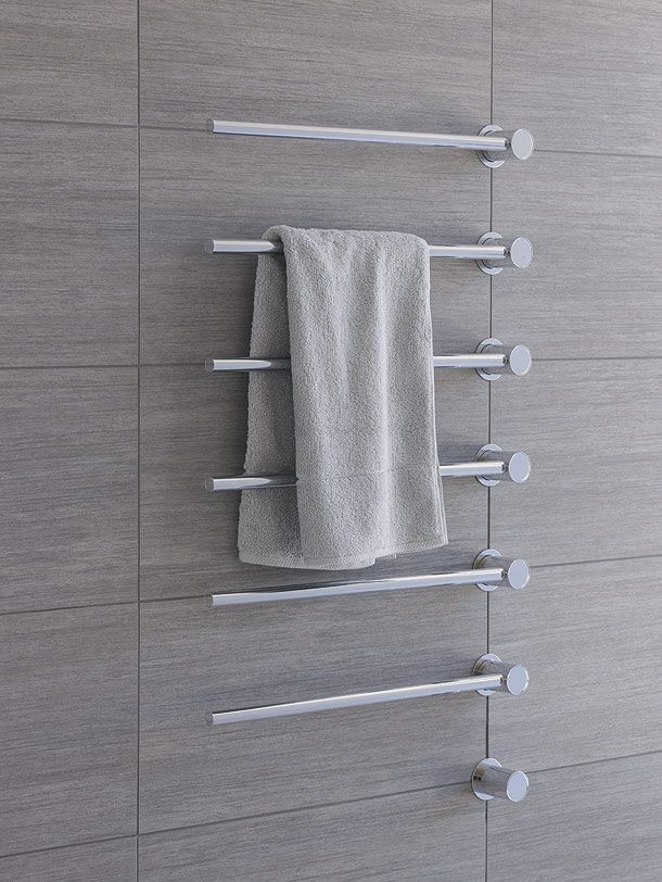 Built-in modular heated towel rail, T39 by Aarhus Arkitekterne for Vola