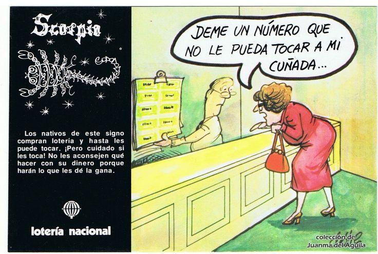 """Escorpio - Emilio Dáneo """"Dátile"""" (España, 1981) - Zodiaco y lotería"""