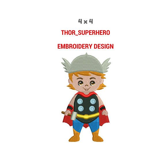 Thor Superhero Embroidery Design  Machine Embroidery Design