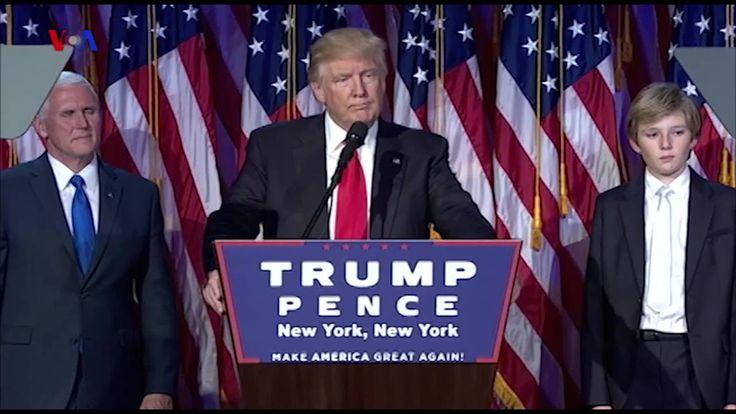 Rakyat AS memilih Donald Trump sebagai presiden baru untuk menggantikan Barack Obama dalam Pemilihan Presiden 2016 yang berlangsung 8 November 2016. Vina MUbtadi menyampaikan dalam #VOATrendingTopic berikut ini. Versi awal dipublikasikan pada - http://www.voaindonesia.com/a/trending-topic-presiden-terpilih-donald-trump/3589008.html