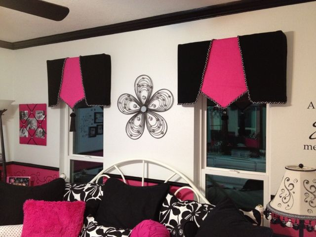 Pink And Black Valances  Love These. And We Could Make Pink Or Black