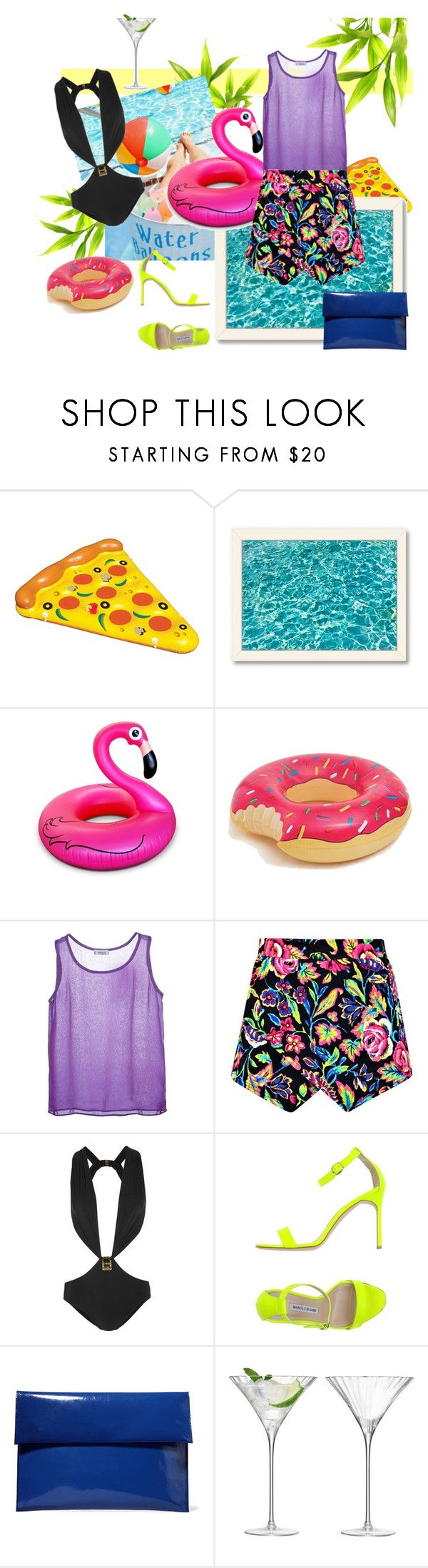 """""""Pool party"""" by closertocris ❤ liked on Polyvore featuring moda, Americanflat, Big Mouth, Yves Saint Laurent, Boohoo, Gucci, Manolo Blahnik, Marni, LSA International y women's clothing"""