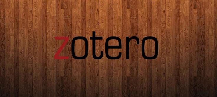 Zotero es un programa que permite tener ordenada y controlada una base de datos de referencias bibliográficas y citas bibliográficas