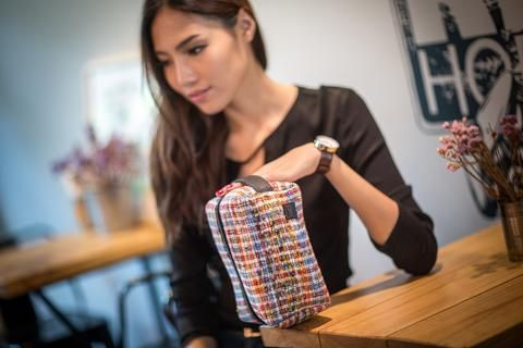 Loomy recycled toiletry bag by Recycle Creative - Crafted from garment factory offcuts