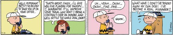 Peanuts Comic Strip  for Nov/08/2014  on GoComics.com