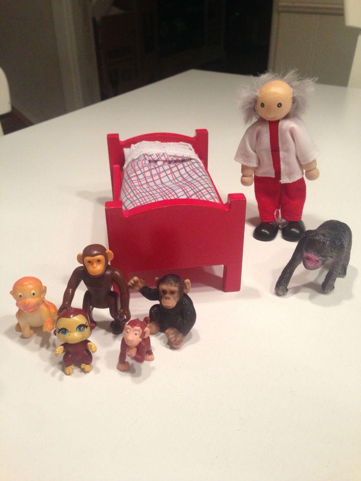 5 små apor hoppade i sängen!