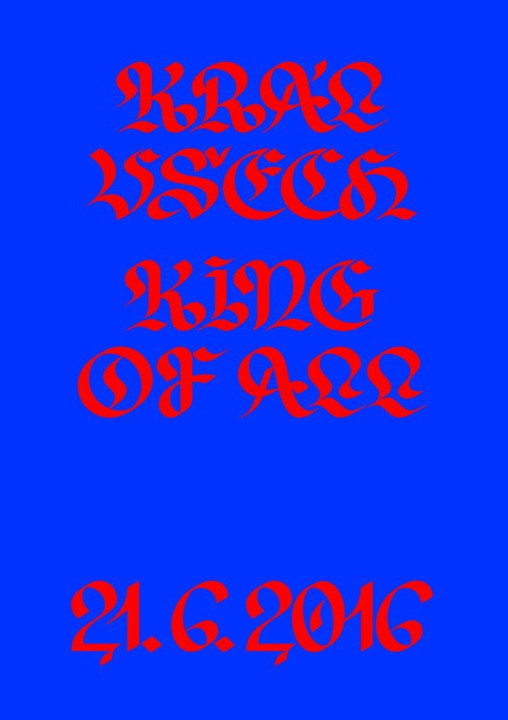 """janhorcik: """" Král Všech, King Of All #JanHorcik #lettering """""""