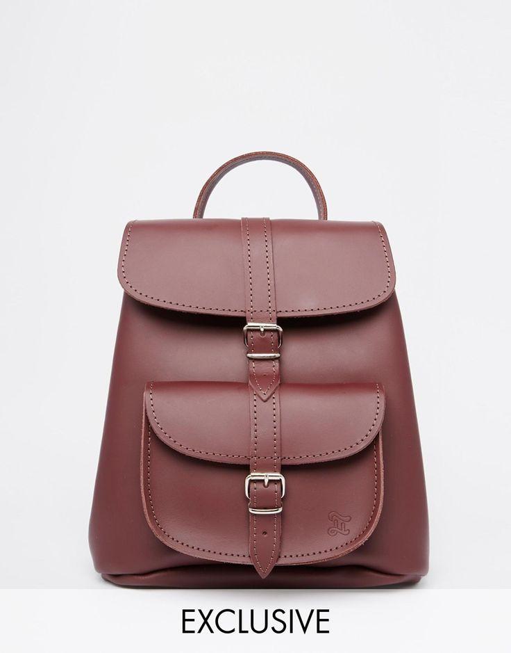 Grafea Mini Backpack in Oxblood