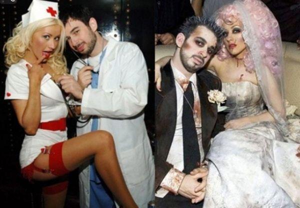 Promis am Halloween Christina-aguilera jordan bratman Braut Kostüme
