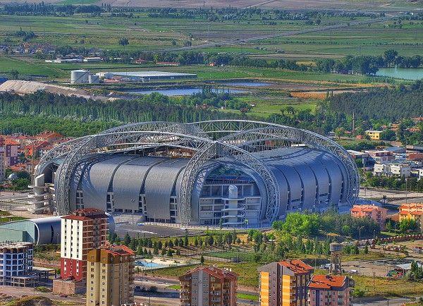 Kadir Has Stadium in Kayseri, Turkey, by Bahadir Kul Architects