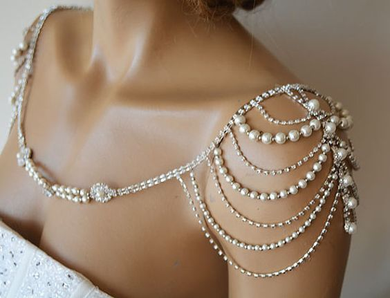 Wedding Dress Shoulder Wedding Dress Accessory Bridal by ADbrdal