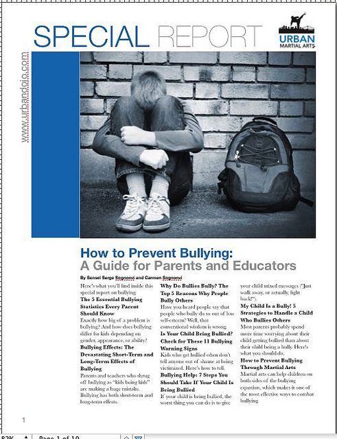How to Prevent Bullying by urbanmartialarts, via Flickr