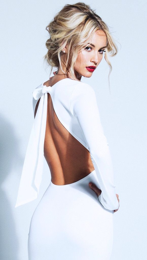 Lurelly Backless Bow Dress on Bryana Holly currently on sale $125, originally $150