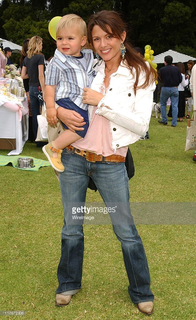 Kari Wuhrer and son Enzo during Silver Spoon Hollywood Buffet for Dogs and Babies - Day 2 in Los Angeles, California, United States. (Photo by Jean-Paul Aussenard/WireImage for Silver Spoon (formerly The Cabana))