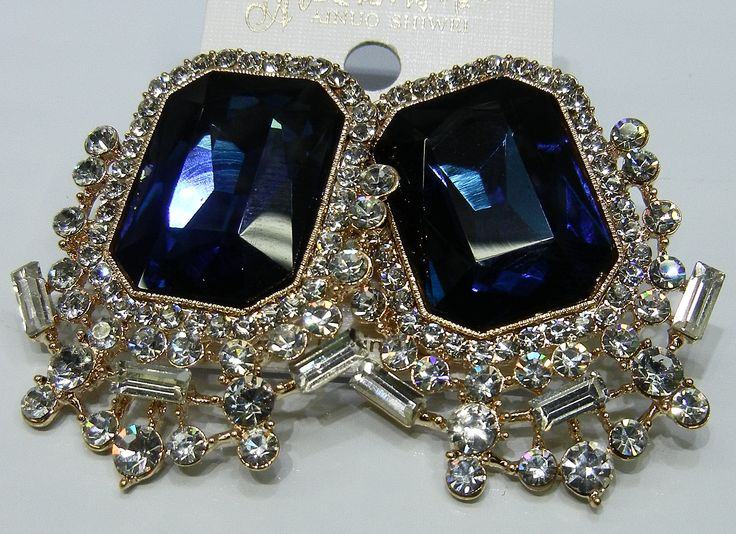 Patra $35.00 Stunning blue and diamond classic drop earring  Made with L.O.V.E
